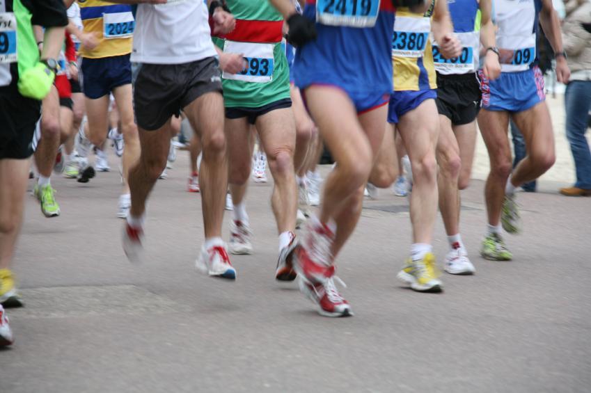 Start of a 10k run